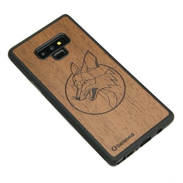 Drewniane etui Samsung Galaxy Note 9 Lis Merbau Geometric Animals